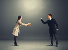 Free Angry Man At Odds With Young Woman Royalty Free Stock Image - 36044466
