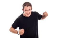 Angry man attacking Royalty Free Stock Image