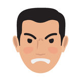 Angry Man Avatar User Pic Front Head View Vector Stock Photos