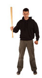 Angry man with baseball bat Stock Photo