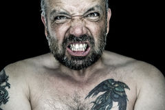 Angry man with beard Royalty Free Stock Photos