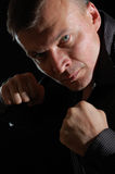 Angry man boxing Stock Image