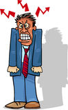 Angry man or businessman Royalty Free Stock Photos