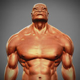 Angry man bust. 3d illustration Stock Photo