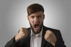 Angry man with clenched fists Stock Photography