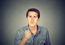Angry man with fist up Royalty Free Stock Photo