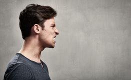 Angry man. Angry fury man portrait. People face expressions Royalty Free Stock Photos