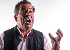 Angry man gesticulating Royalty Free Stock Images