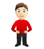 Angry Man With Hands On Hips. Angry Man, in a red pullover, With Hands On Hips Stock Photography