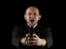 Angry Man Holding Gun Royalty Free Stock Photography