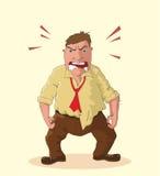 Angry man illustration Stock Photos