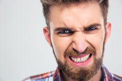 Angry man looking at camer Stock Images