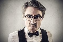 Angry man. Looking straight into the camera Royalty Free Stock Photography