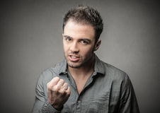 Angry man royalty free stock photography