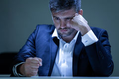 Angry man in the office Royalty Free Stock Photo