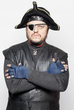 Angry man in a pirate costume Royalty Free Stock Photo