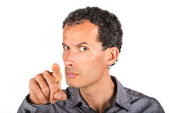 Angry man pointing and accusing you Royalty Free Stock Photo
