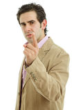 Angry man pointing Stock Photography