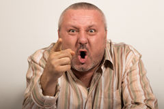 Angry man pointing at the camera. Stock Photography