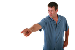 Angry Man Pointing Finger Royalty Free Stock Images