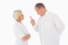Angry man pointing at his partner Royalty Free Stock Photo