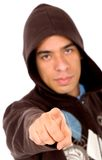 Angry man pointing at you Stock Photo