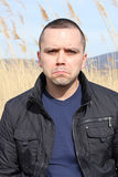 Angry man portrait Stock Images