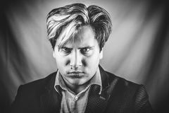 Angry man portrait Royalty Free Stock Images