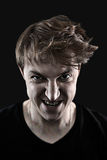 Angry man portrait Stock Photo