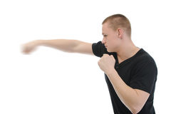Angry man punched Stock Photo