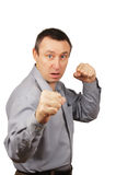 Angry man is ready to fight Royalty Free Stock Photography