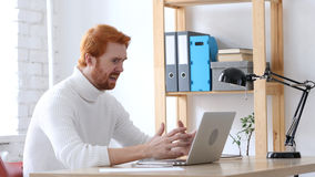 Angry Man with Red Hairs  Reacting to Problems and Misunderstanding Stock Photos