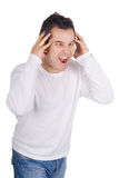 Angry man screaming Royalty Free Stock Photo