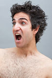 Angry man screaming Royalty Free Stock Photography