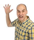 Angry man screaming Stock Image