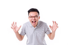 Angry man screaming Stock Image