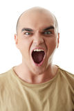 Angry man screeming Royalty Free Stock Image