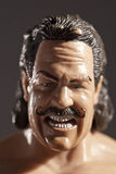 Angry Man. From a series of portraiture created of Wrestler toys studying masculinity Stock Photo