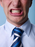 Angry man shouting at camera. Close up Royalty Free Stock Photos