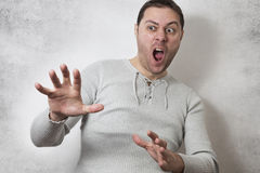 Angry man shouting Stock Image