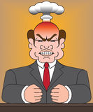 Angry Man in Suit. Angry man in business suit is blowing his top Stock Photo
