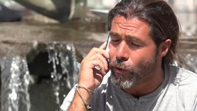 Angry Man Talking On Cell Phone stock footage
