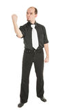 Angry man threaten with his fist isolated Stock Photo