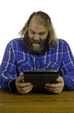 Angry man V Tablet Stock Images