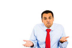 Angry man, so what, who cares Stock Images