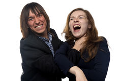 Angry man and woman Stock Photography