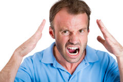 Angry man, worker, employee, businessman Royalty Free Stock Photos