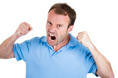 Angry man, worker, employee, businessman Stock Photos
