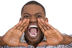 Angry man yelling Stock Images