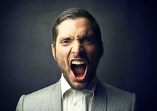 Angry man Stock Images